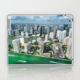 miami downtown aerial view Laptop & iPad Skin