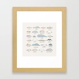 The Moody Animals (Colours) Framed Art Print