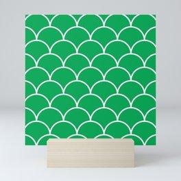 Scales - green Mini Art Print