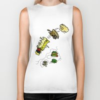 basquiat Biker Tanks featuring Basquiat Netflix by alexSHARKE