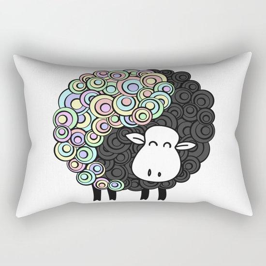 Yin Yang Sheep Rectangular Pillow
