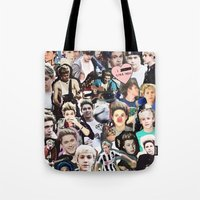 niall horan Tote Bags featuring Niall Horan - Collage by Pepe the frog