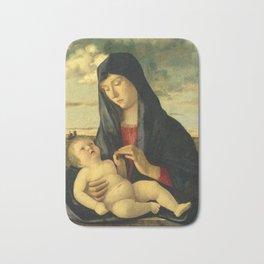 """Giovanni Bellini """"Madonna and Child in a Landscape"""" Bath Mat"""