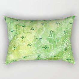 India vibe light green Rectangular Pillow