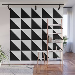 Geometric Pattern 01 Black Wall Mural