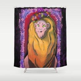Monty's Crown Shower Curtain