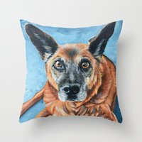 hercules Throw Pillows featuring Hercules by Lindsay Larremore Craige