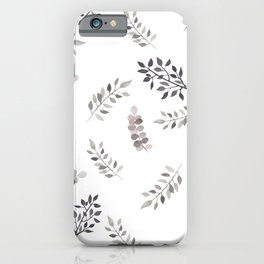 Soft leaves iPhone Case