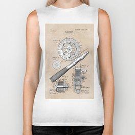 patent art Glocker Fishing reel 1906 Biker Tank