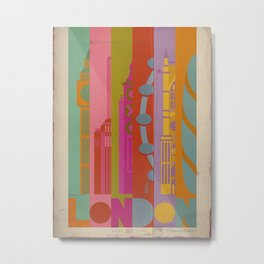 Colours of London Metal Print