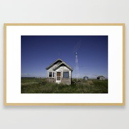 Farm House & Tower 4 Framed Art Print