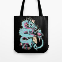dessert Tote Bags featuring Dessert Dragon by Heartjack