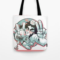 yaoi Tote Bags featuring Plushie! by kami dog