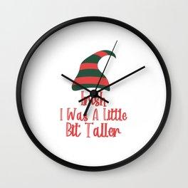 Irish I Was Little Bit Taller Funny St. Patrick's Day Wall Clock