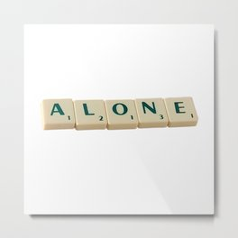 Alone Letter Tiles 2020 Metal Print