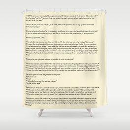 Pride and Prejudice Jane Austen antique white Shower Curtain