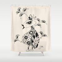 safari Shower Curtains featuring SAFARI by Fabi