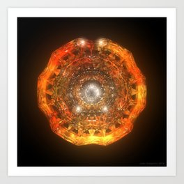 The Eye of Cyma: Fire and Ice - Frame 160 Art Print
