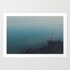 White Cliff Art Print