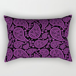 Paisley (Purple & Black Pattern) Rectangular Pillow