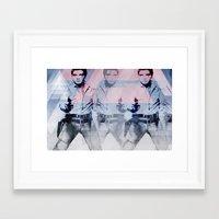 guns Framed Art Prints featuring 228 GUNS by AMBIDEXTROUS™