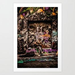Urban Busker Art Print