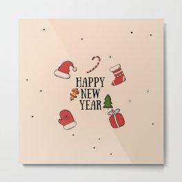 New Year Christmas winter holidays Metal Print