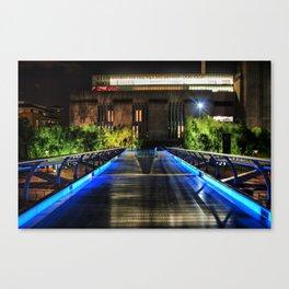 Millenium Bridge & The Tate Modern (HDR) Canvas Print