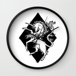 unicorn armory Wall Clock
