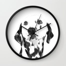 Black and White Dalmatian Wall Clock