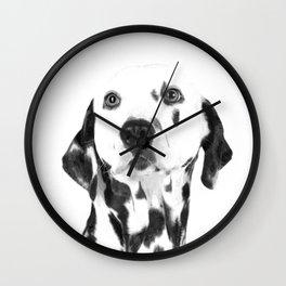 Black and White Dalmatian Wall Clock