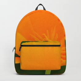 California Poppy close up by Teresa Thompson Backpack