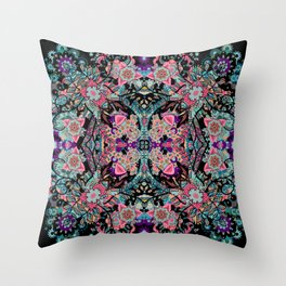 Mandala Colorful Boho Throw Pillow