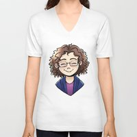 chelsea V-neck T-shirts featuring Chelsea by Abbi Laura
