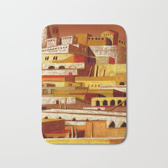 The fortress at sunset Bath Mat