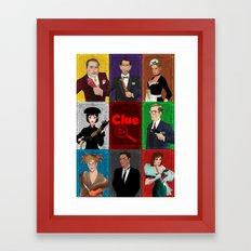Clue Movie Poster Framed Art Print
