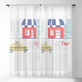 Taxi! - for arp - Sheer Curtain