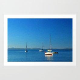Quiet Blue Art Print