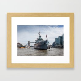HMS Belfast Framed Art Print