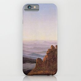 Caspar David Friedrich - Morning in the Riesengebirge.jpg iPhone Case