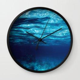 Blue Underwater Wall Clock