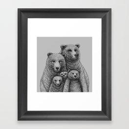Family photo (mr. Bear) Framed Art Print