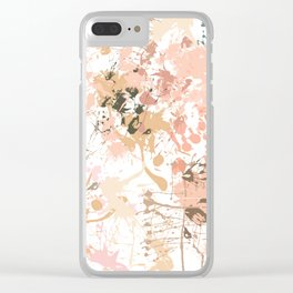 Skin Tones - Liquid Makeup Foundation - on White Clear iPhone Case