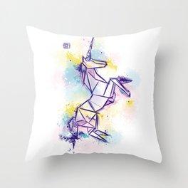 Raimbow Unicorn Throw Pillow