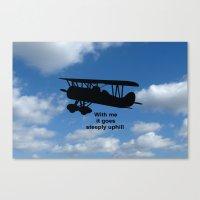 airplane Canvas Prints featuring airplane by Karl-Heinz Lüpke