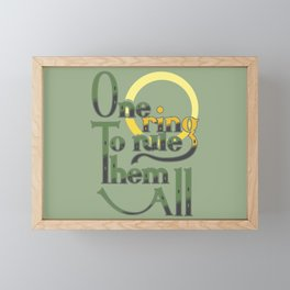 One Ring Framed Mini Art Print