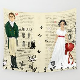 Mr.Darcy of Pemberley and Miss Bennet of Longbourn Wall Tapestry