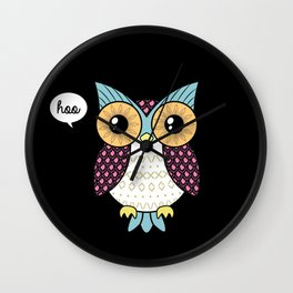 Fancy owl Wall Clock