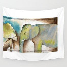 """La mujer y el elefante nunca olvidan"" ~ ""Women and elephants never forget"" Wall Tapestry"