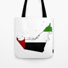 United Arab Emirates UAE Map with Flag Tote Bag
